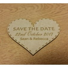 3mm MDF Save The Date Heart Basic Plaque Shapes