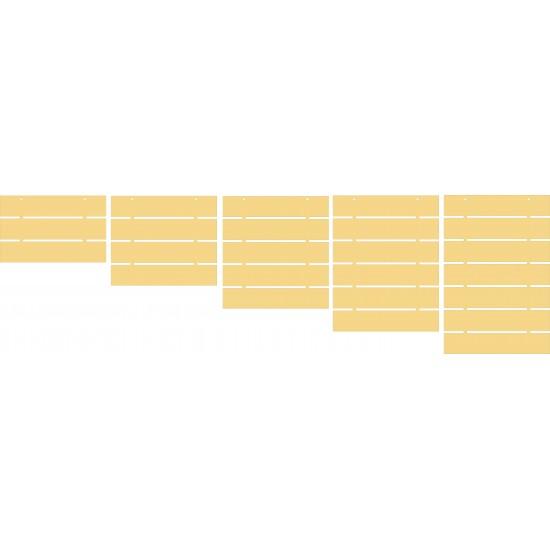 3mm mdf Slatted Boards Basic Plaque Shapes