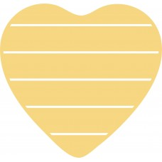 3mm mdf Heart Shape Slat Board Hearts