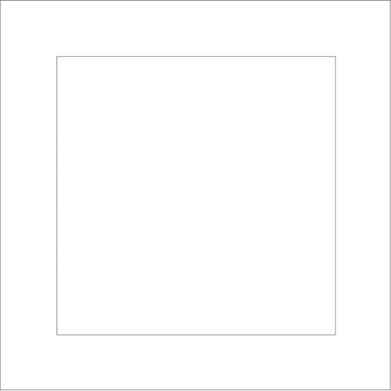 3mm MDF Square Border for 70mm and 100mm Cube blocks Basic Plaque Shapes