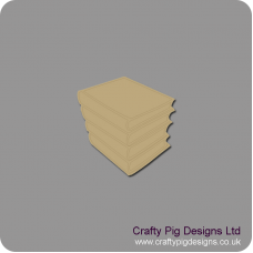 3mm MDF Stack of Books Small MDF Embellishments