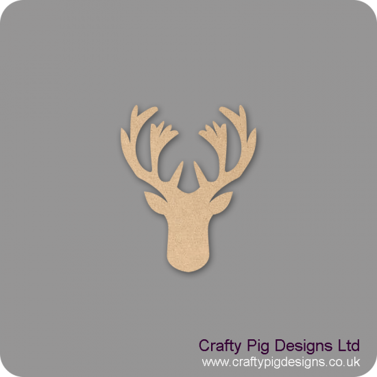 3mm MDF Stags Head Shape Basic Shapes