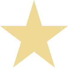 3mm MDF Standard Star Bunting (pack of 10) Bunting