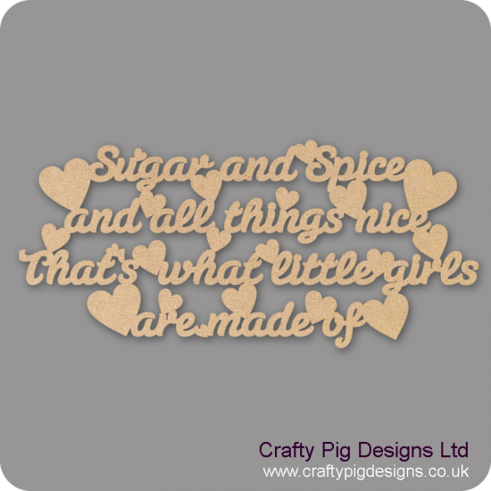 3mm MDF Sugar and Spice Quote For the Ladies