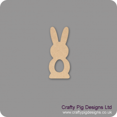18mm Freestanding Tall Bunny with Egg Shape Cut Out Easter