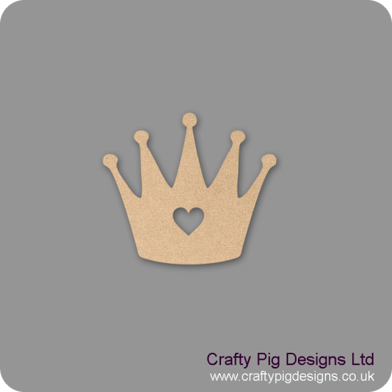 Tall Crown with heart cut out