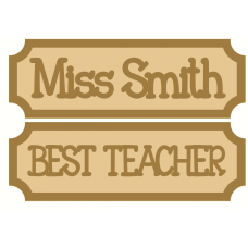 18mm Tiny Street Sign Style 2 Teachers