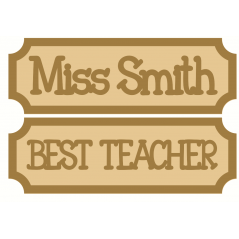 18mm Tiny Street Sign Style 2 Teachers
