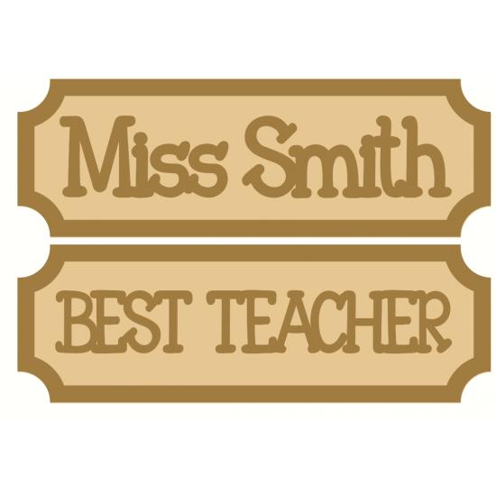 3mm Tiny Street Sign Style 2 Teacher