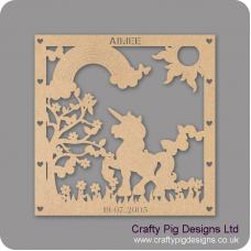 3mm MDF Personalised Unicorn Plaque  Personalised and Bespoke