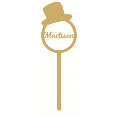 3mm mdf  Personalised Top Hat Wand Personalised and Bespoke