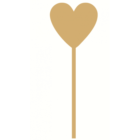 3mm MDF Princess Wand - Heart top