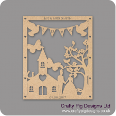 3mm MDF Personalised Wedding Plaque -woth Chapel/Church Personalised and Bespoke