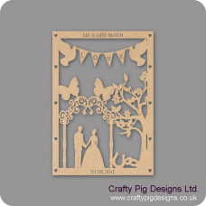 3mm MDF Personalised Wedding Plaque - With Fancy Arch Personalised and Bespoke