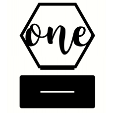 3mm MDF Hexagon Wedding Table Number on stand Wedding
