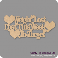 3mm MDF Weight lost/Lost this week/To Target Chalkboard Countdown Plaques