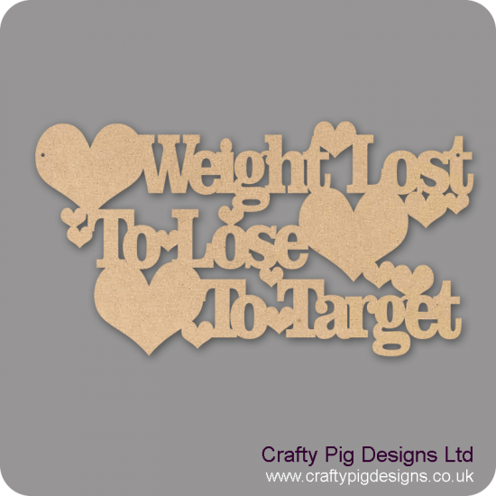 3mm MDF Weight Lost/to Lose/To Target Chalkboard Countdown Plaques
