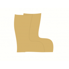 3mm MDF Wellies (pack of 10) Small MDF Embellishments