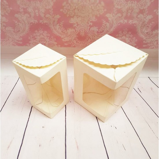 Ivory Wine Glass Box (1 size large) Packaging