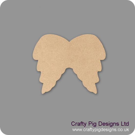 3mm MDF Angel wings Joined Shape Baby Shapes
