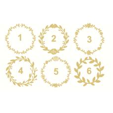 3mm mdf  Wreaths - Various Styles