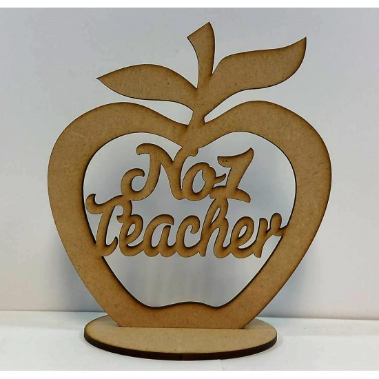 3mm MDF No.1 Teacher - Freestanding Apple Teachers