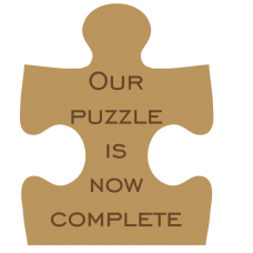 18mm Engraved Jigsaw Piece - Our Puzzle Is Now Complete Mother's Day