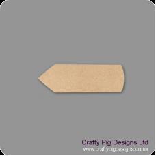 3mm MDF Chunky Pencil Shape Basic Plaque Shapes