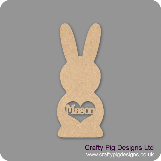 3mm MDF Personalised Easter Bunny Easter
