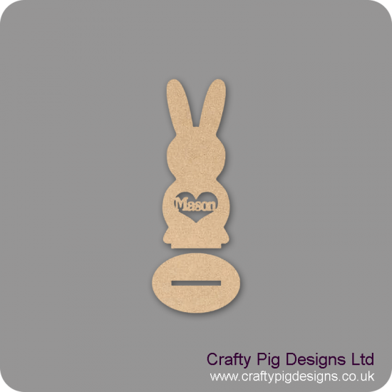 3mm MDF Personalised Easter Bunny (on plinth) Easter