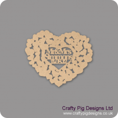 3mm MDF Personalised Wedding Heart Shaped Guest Book