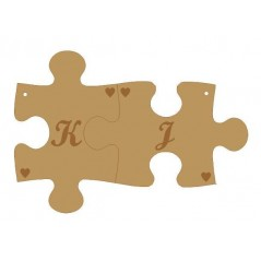 3mm MDF Personalised Interlocking Keyrings - Initials Names and Dates Keys and Keyrings