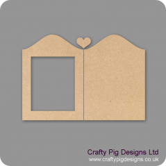 3mm MDF Heart Chalkboard/Photo Frame