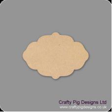4mm Oak Veneer Plaque Shape 1 Basic Plaque Shapes