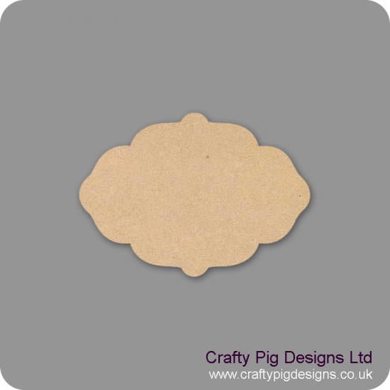 4mm Oak Veneer Plaque Shape 1 Basic Plaque Shapes