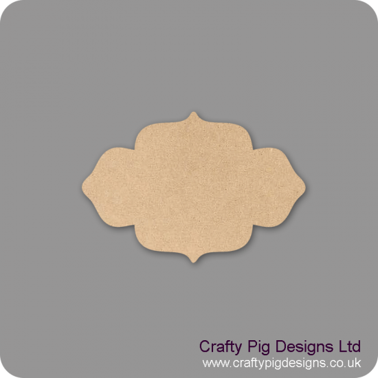 3mm mdf Plaque Shape 3 Basic Plaque Shapes