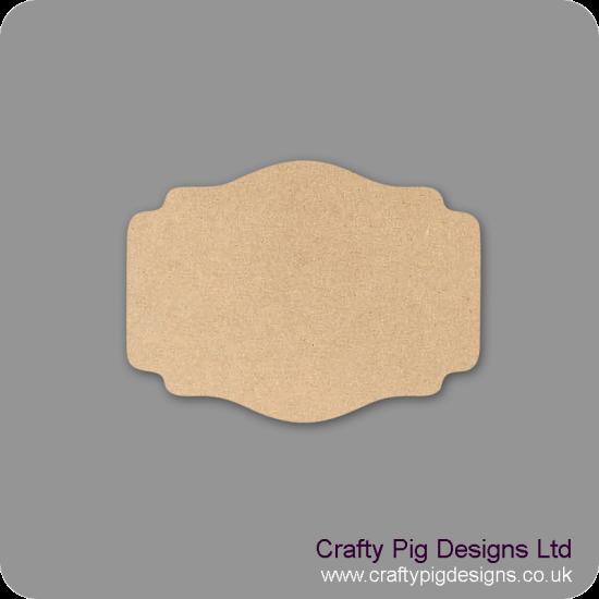 3mm mdf Plaque Shape 6 Basic Plaque Shapes