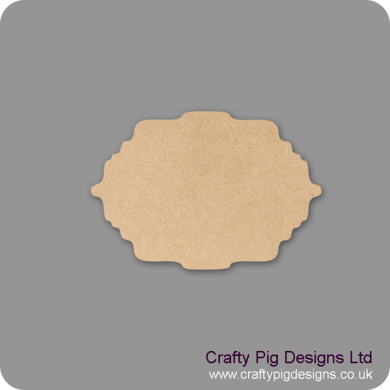 3mm mdf Plaque Shape 7 Basic Plaque Shapes