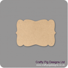 3mm mdf Plaque Shape 8 Basic Plaque Shapes
