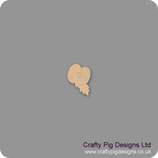 3mm MDF Poppy and Leaf Shape Basic Shapes
