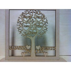 3mm MDF Remembrance Tree Trees Freestanding, Flat & Kits