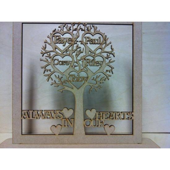 3mm MDF Remembrance Tree Trees Freestanding, Flat & Kits