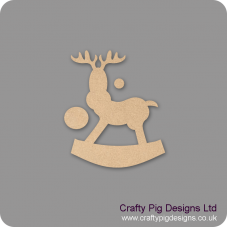 3mm MDF Rocking Reindeer (Version 5) (Pack of 5) Christmas Shapes