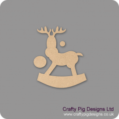 18mm Rocking Reindeer (with separate nose pieces) 18mm MDF Christmas