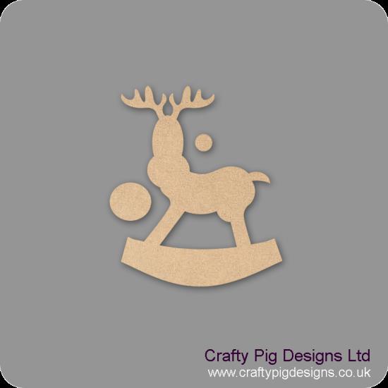 3mm MDF Rocking Reindeer (Version 5) (Pack of 5) Christmas Shapes