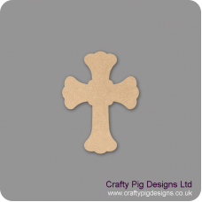 3mm MDF Roman Cross Shape Christmas Shapes