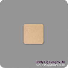 3mm MDF Rounded Square Plaque Shape Basic Plaque Shapes