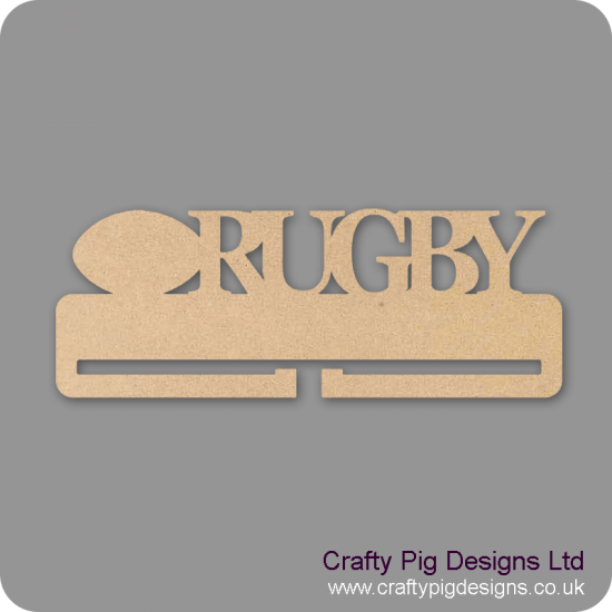 4mm MDF Rugby Medal Holder Medal Holder / Hanger