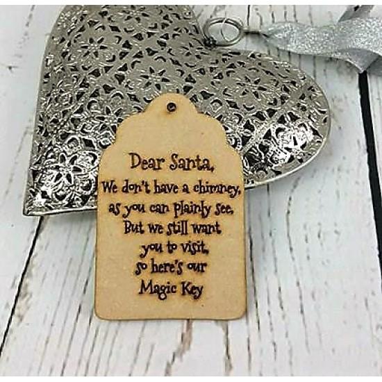3mm MDF Dear Santa Tag Christmas Shapes