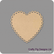 3mm MDF Scalloped Heart Bunting (pack of 10) Bunting
